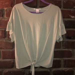 Caution to the Wind Light Olive Green Blouse
